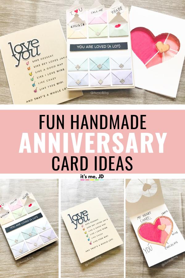 3 Fun Handmade Anniversary Card Ideas For Your Boyfriend Or Husband Anniversary Cards Handmade Anniversary Cards Anniversary Cards For Husband