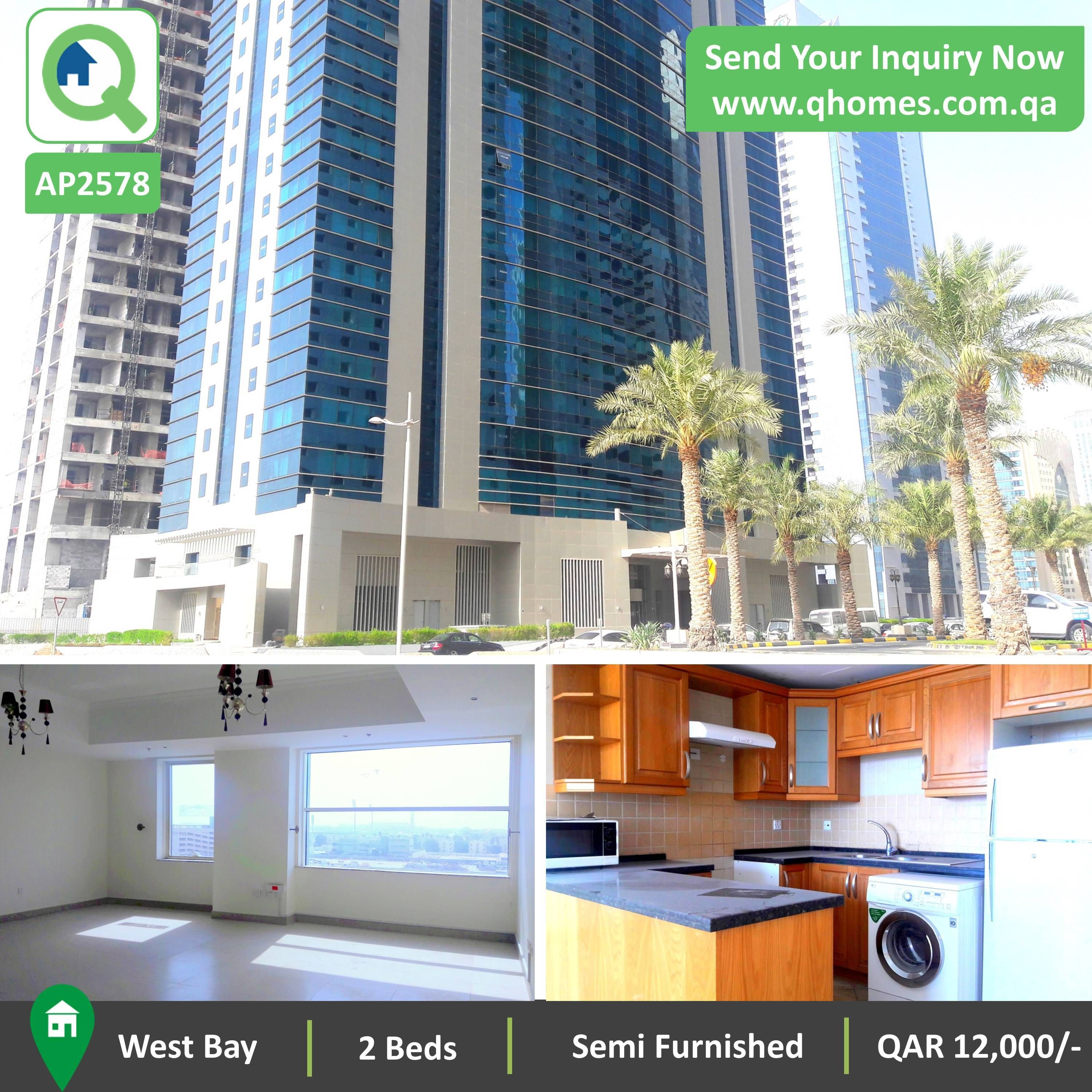 Apartment For Rent In Qatar: Luxurious Semi Furnished 2