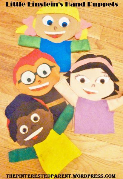 DIY Little Einsteins Felt hand puppet tutorial