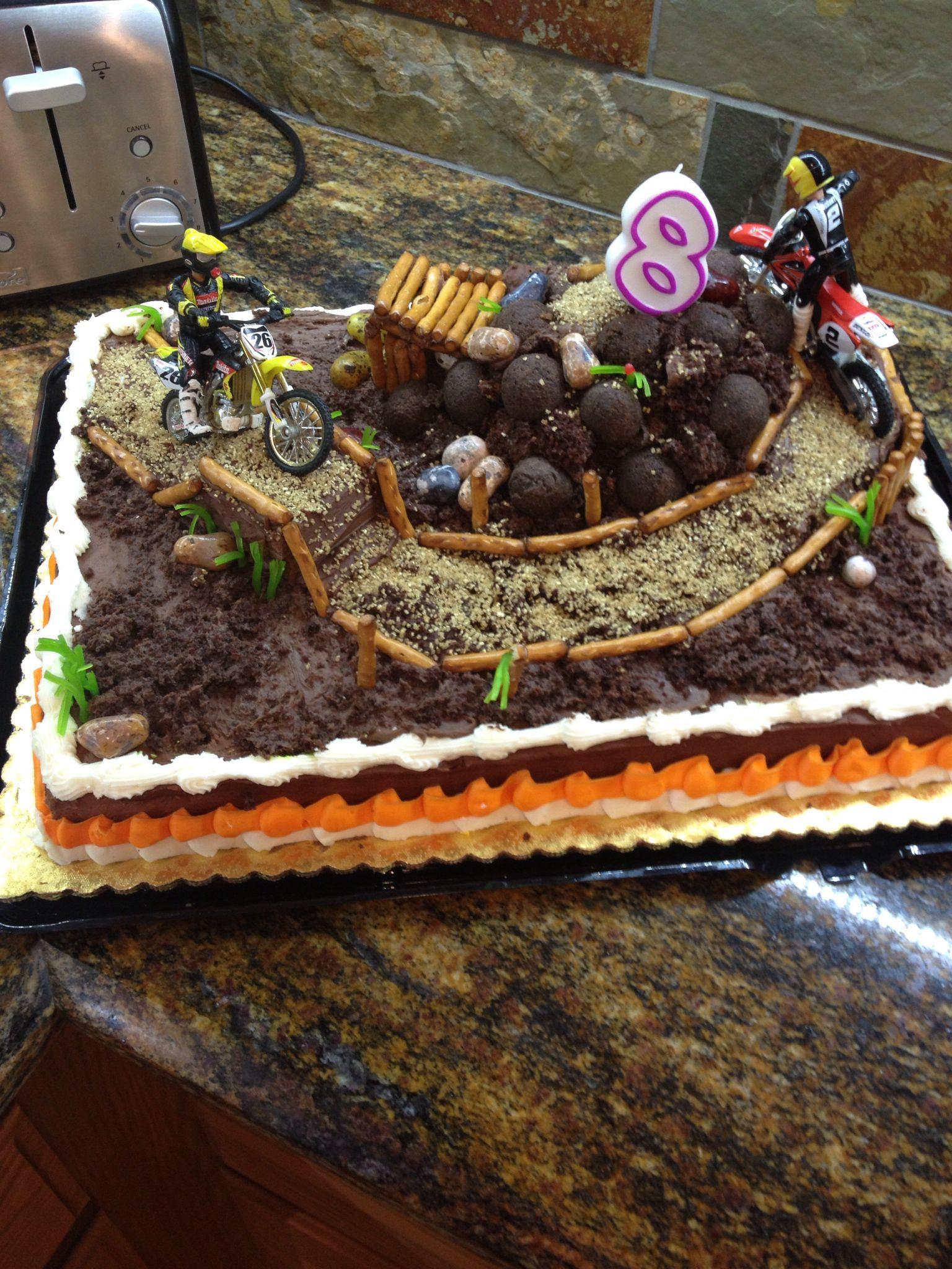 Terrific Coltons Dirt Bike Cake Birthday Cake Kids Bike Cakes Dirt Personalised Birthday Cards Paralily Jamesorg