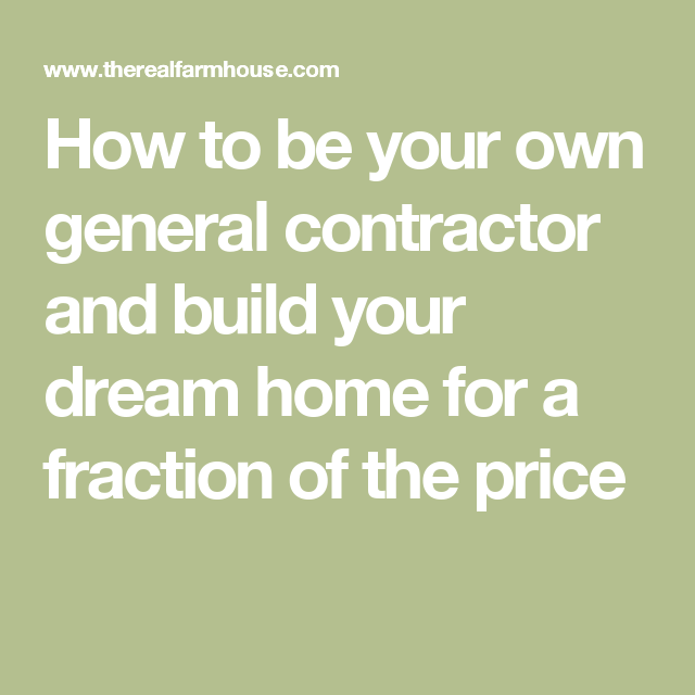 nice how to be your own general contractor #8: How to be your own general contractor and build your dream home for a  fraction of