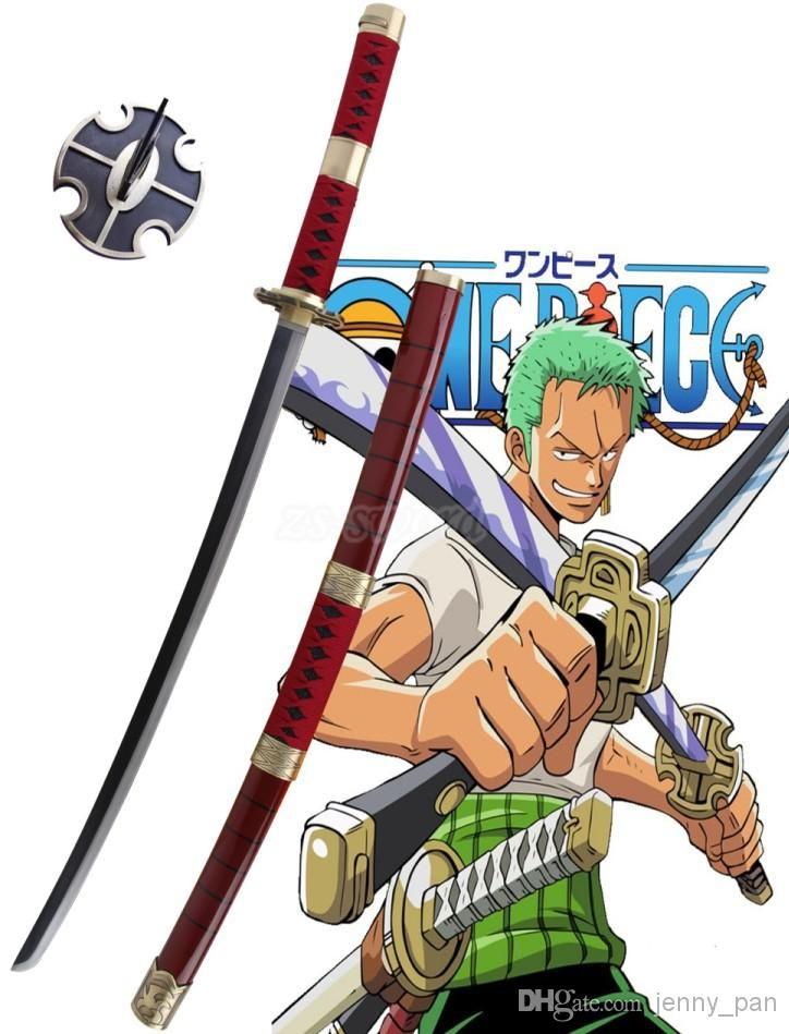 41Japanese Fantasy Anime One Piece Roronoa Zoro Sandai Kitetsu Sword Samurai Katana Christams Decorative Cosplay Prop