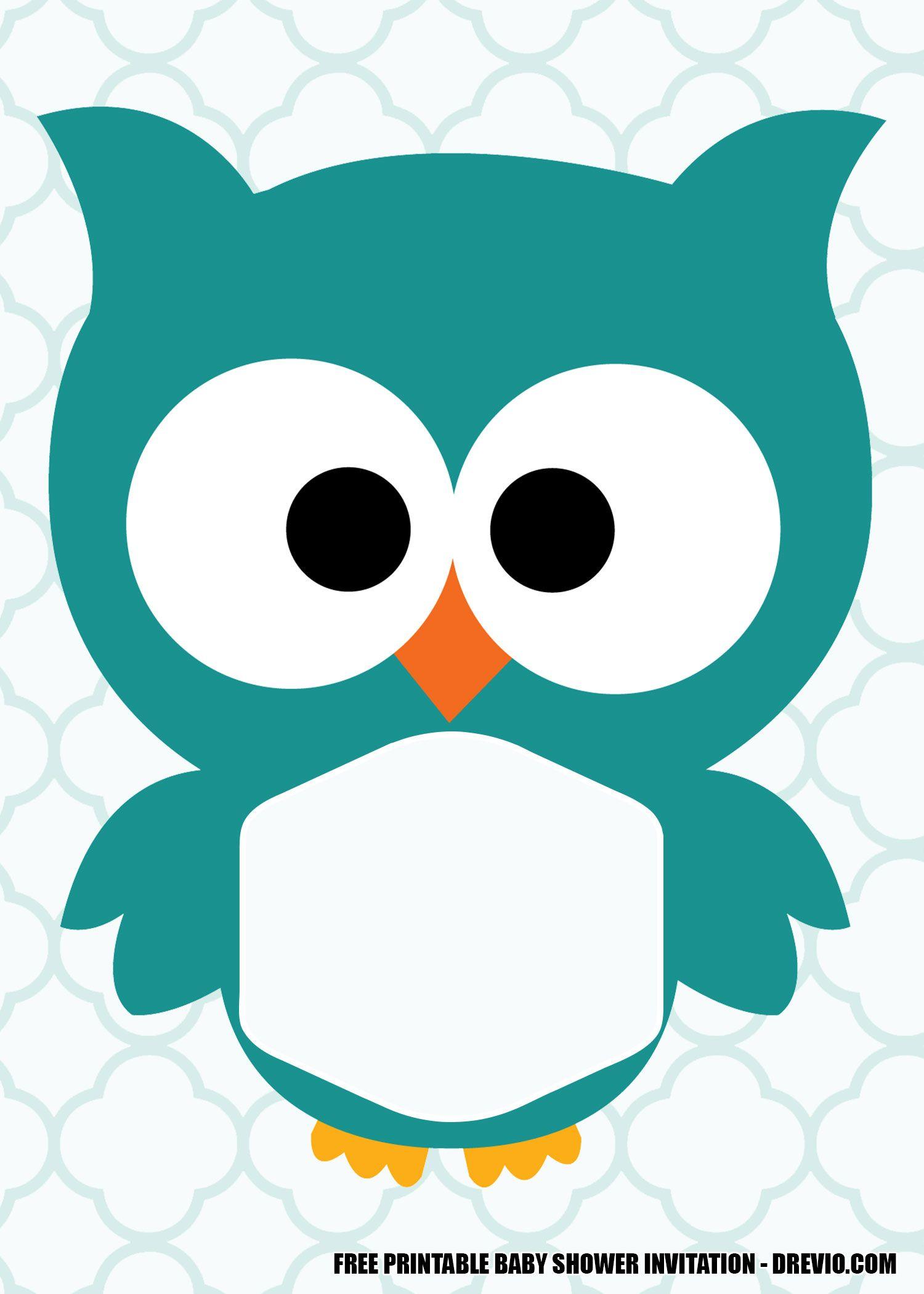 Free Printable Owl Baby Shower Invitation Templates