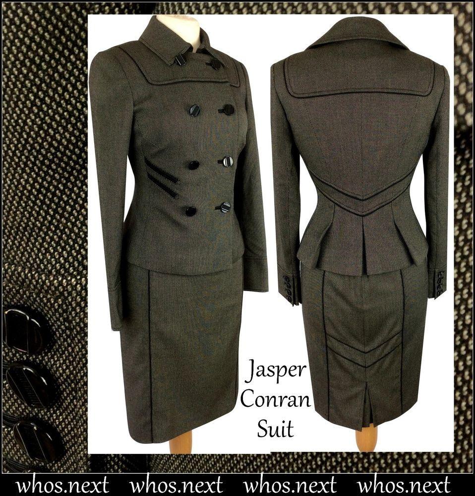 90 Jasper Conran size 10 Gorgeous Brown Dress Suit ladies womans US 6 Debenhams