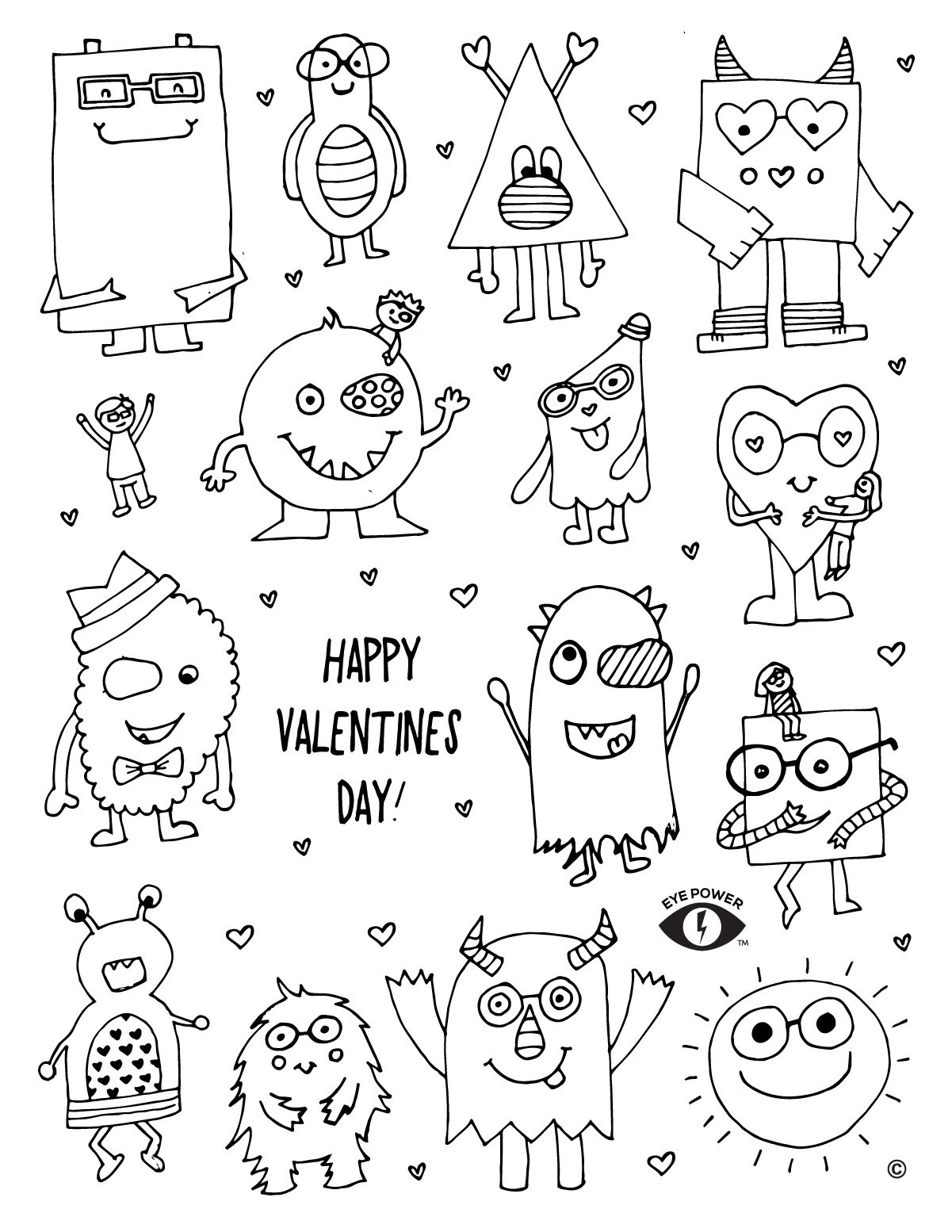 Free Valentines Coloring Page Printable | Valentine ...