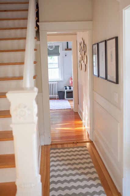 Best White Painted Staircase And Urban Outfitters Zigzag Rug 640 x 480