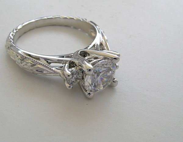 Amazing Art Nouveau Engagement Ring