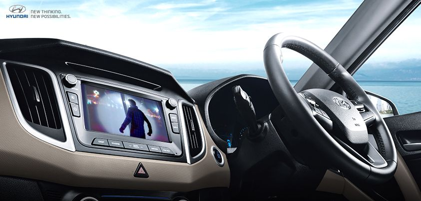 AVN system in the Hyundai CRETA takes entertainment to the next level with its audio and video playing function. #ThePerfectSUV  bit.ly/EXPLORE_CRETA