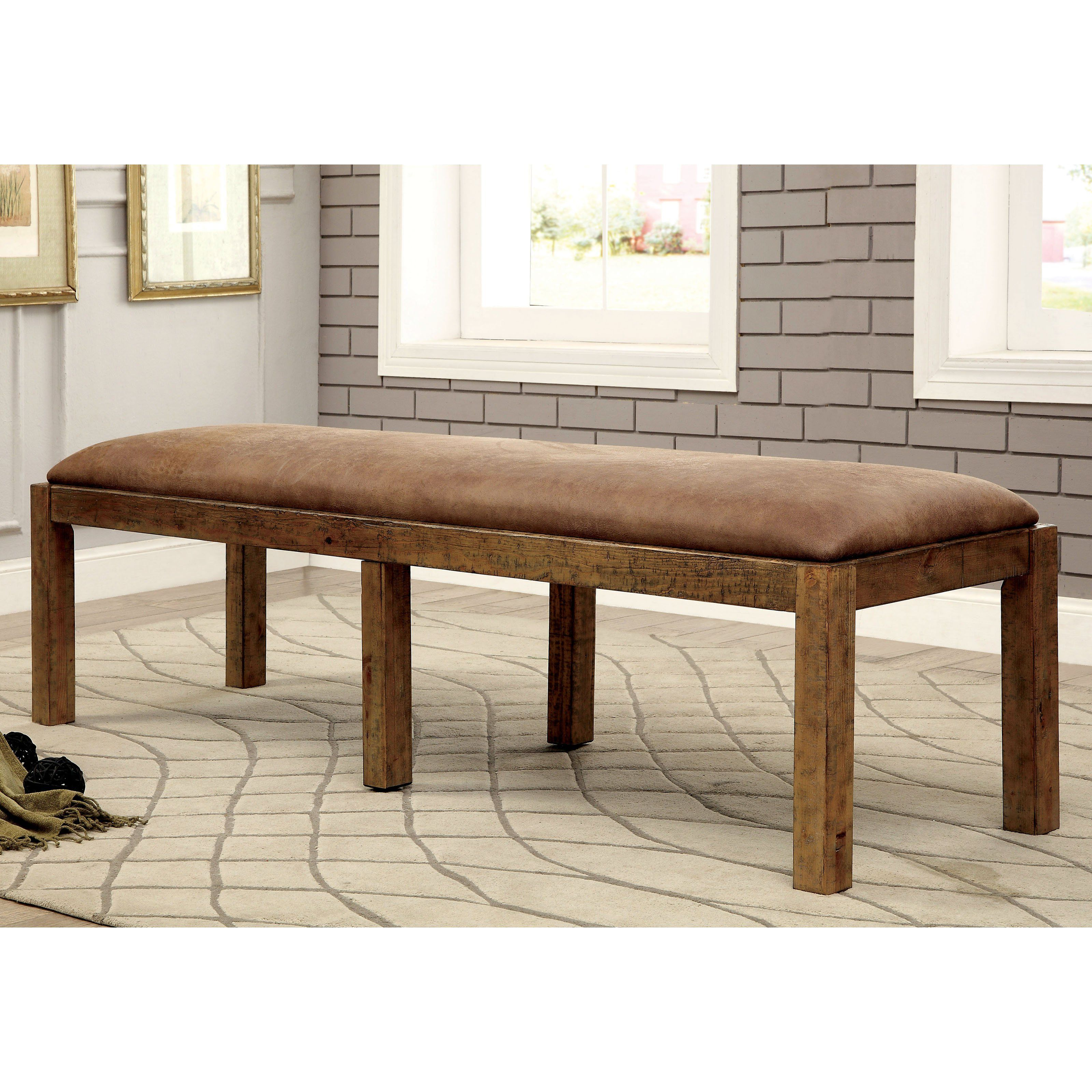 Terrific Furniture Of America Camen Dining Bench From Hayneedle Com Dailytribune Chair Design For Home Dailytribuneorg