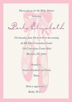 ballet birthday party invitation wording - Google Search | Party ...