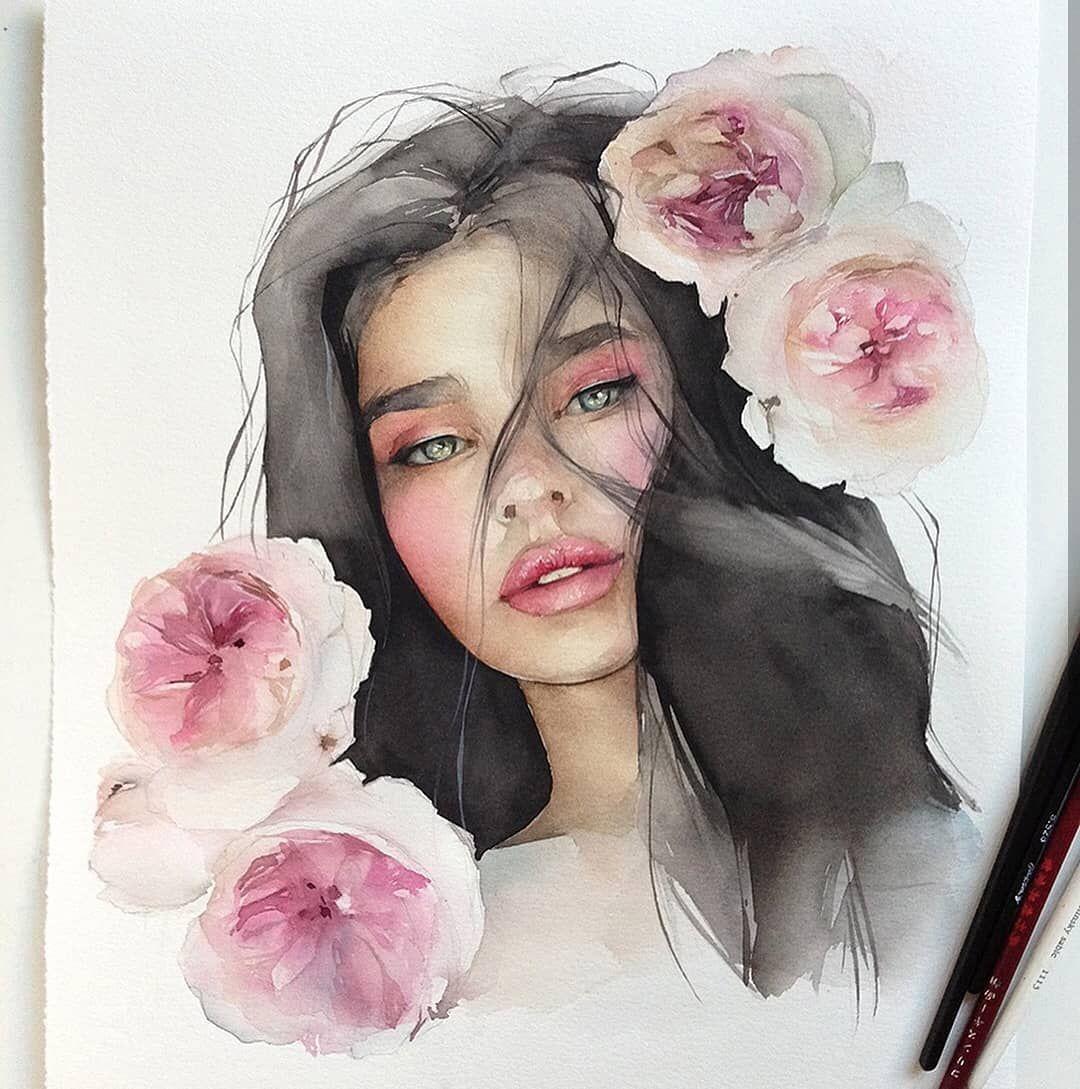 Pin By Suroor On Art Watercolor Portraits Watercolor Art
