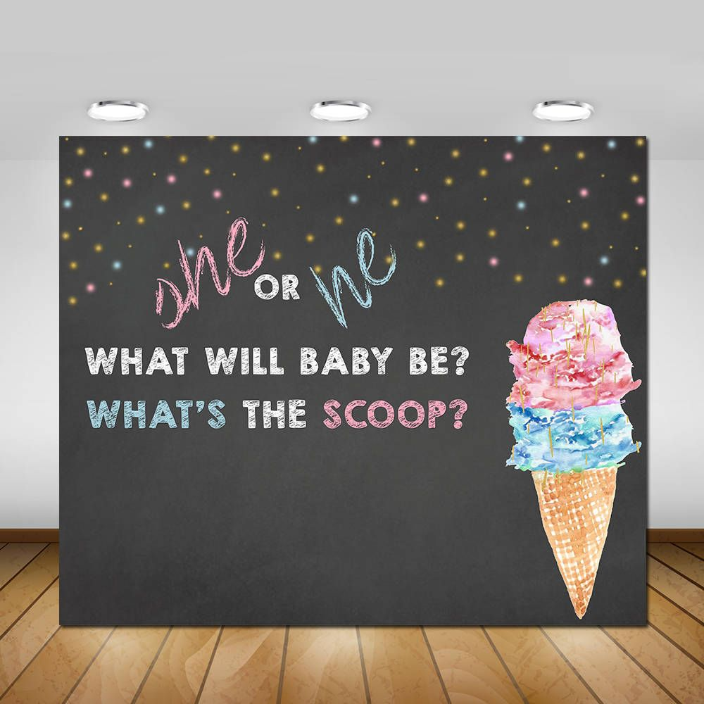 Ice Cream Gender Reveal Party Backdrop Gender Reveal Party Decorations Ice Ice Cream Party Decorations Gender Reveal Party Decorations Backdrops For Parties