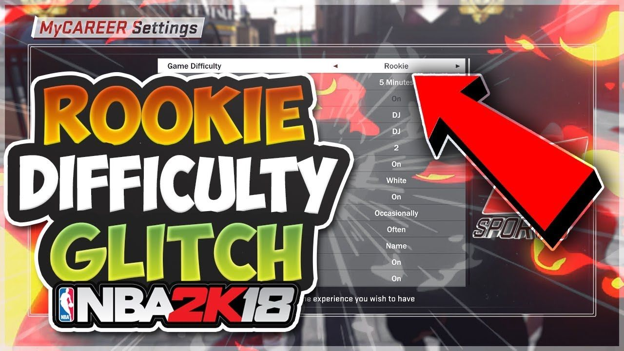 NBA 2K18 - ROOKIE DIFFICULTY GLITCH!! HOW TO PLAY ON ROOKIE