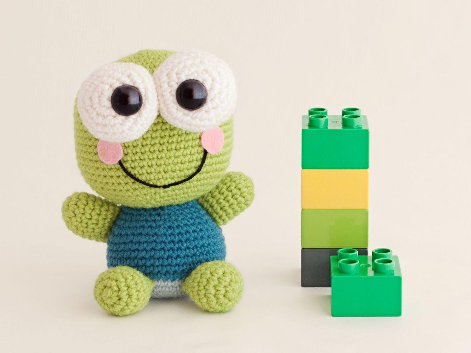 Tutorial Amigurumi Cerdito : Amigurumi frog kerokeroppi free crochet pattern tutorial