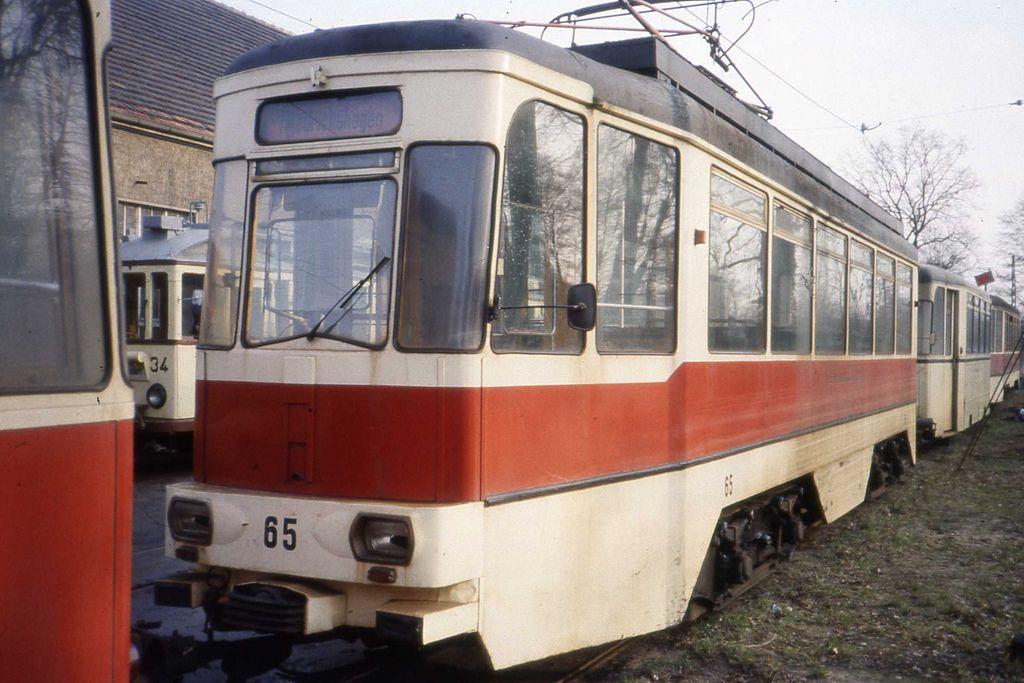 Schöneiche Straßenbahn Depot, DDR, Tram nr 65 Jan