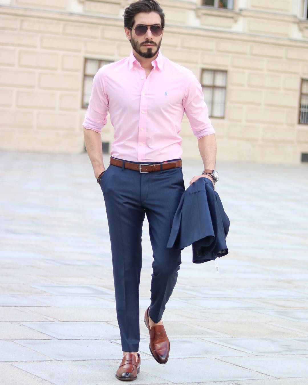 The Ultimate Suit Color Combination Guide For Men Couture Crib Blue Shirt Outfit Men Formal Men Outfit Mens Outfits