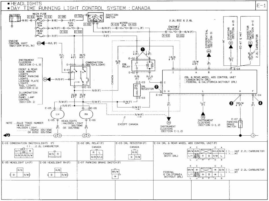 1991 Mazda B2600 Headlight Drl Wiring Diagram In 2020 Electrical Wiring Diagram Headlights Diagram