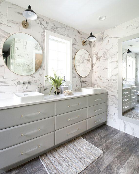 Lucite Drawer Pulls Crown Post 3 4 Dia Polished Brass Or Etsy Bathrooms Remodel Bathroom Design Bathroom Inspiration