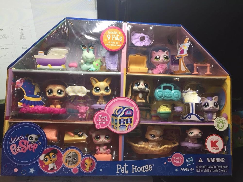 Littlest Pet Shop Kmart Exclusive Pet House 1655 1663 Nib Rare Ebay Littlest Pet Shop Lps Pets Pet Shop