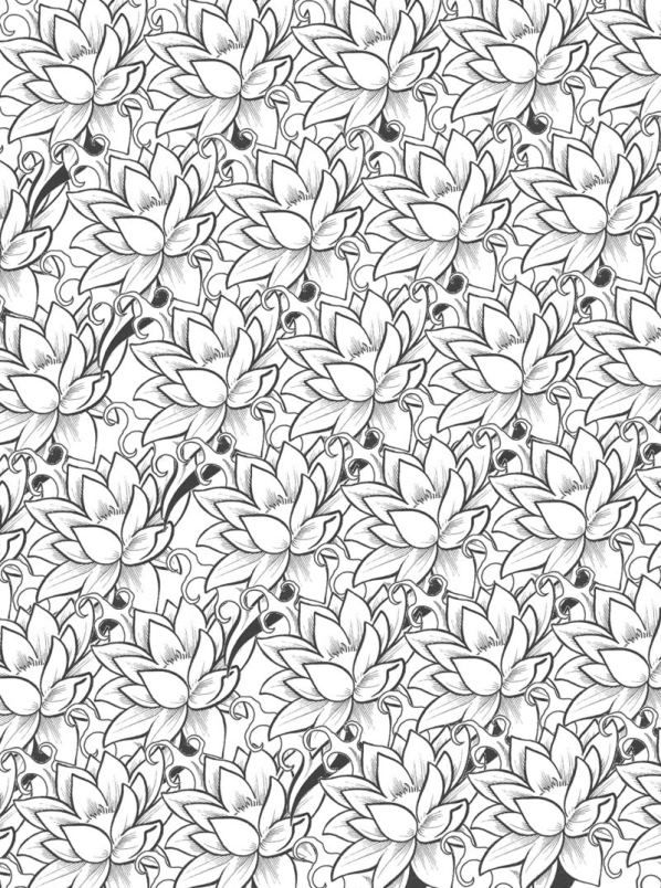 Ausmalbild Blumen fur Erwachsene Kids-n-Fun | colouring pages ...