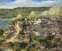 Town at the sea shore by Nicolcea Spineni