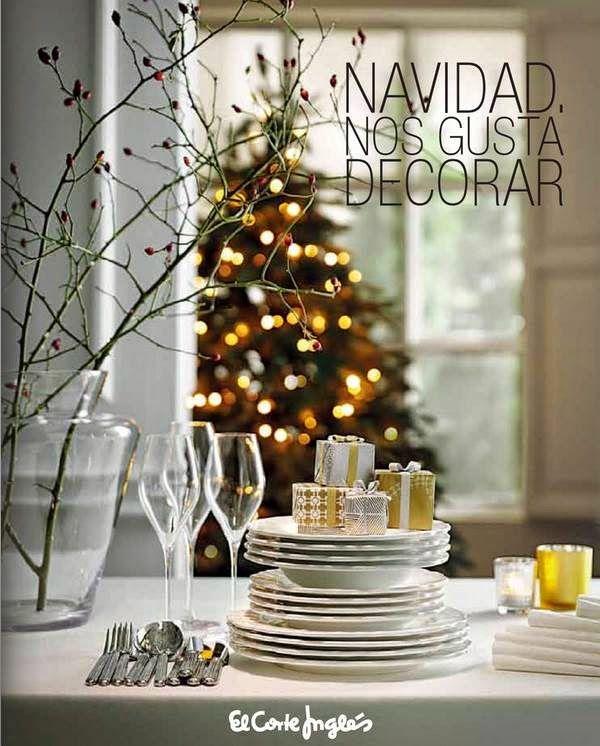 Catalogo con adornos y decoraci n de navidad el corte for Adornos navidenos corte ingles