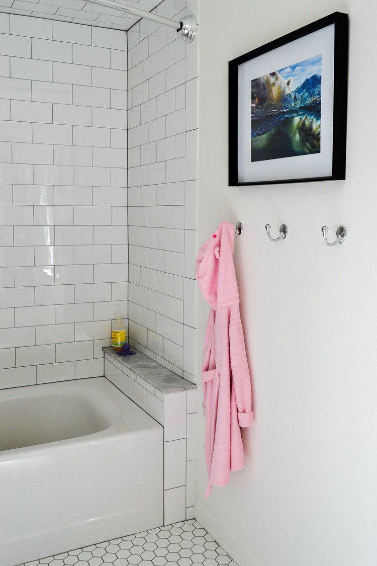 white hexagon tile bathroom hexagon
