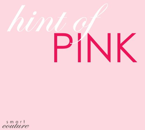 Bring 2014 runway trend hint of pink into your closet with pink details.