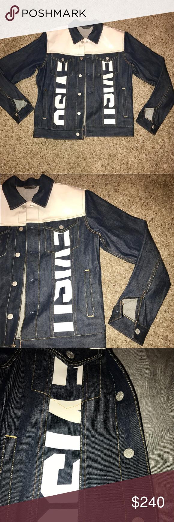 Nwot Custom Made Mens Evisu Jean Jacket Evisu Jeans Jackets Jean Jacket [ 1740 x 580 Pixel ]