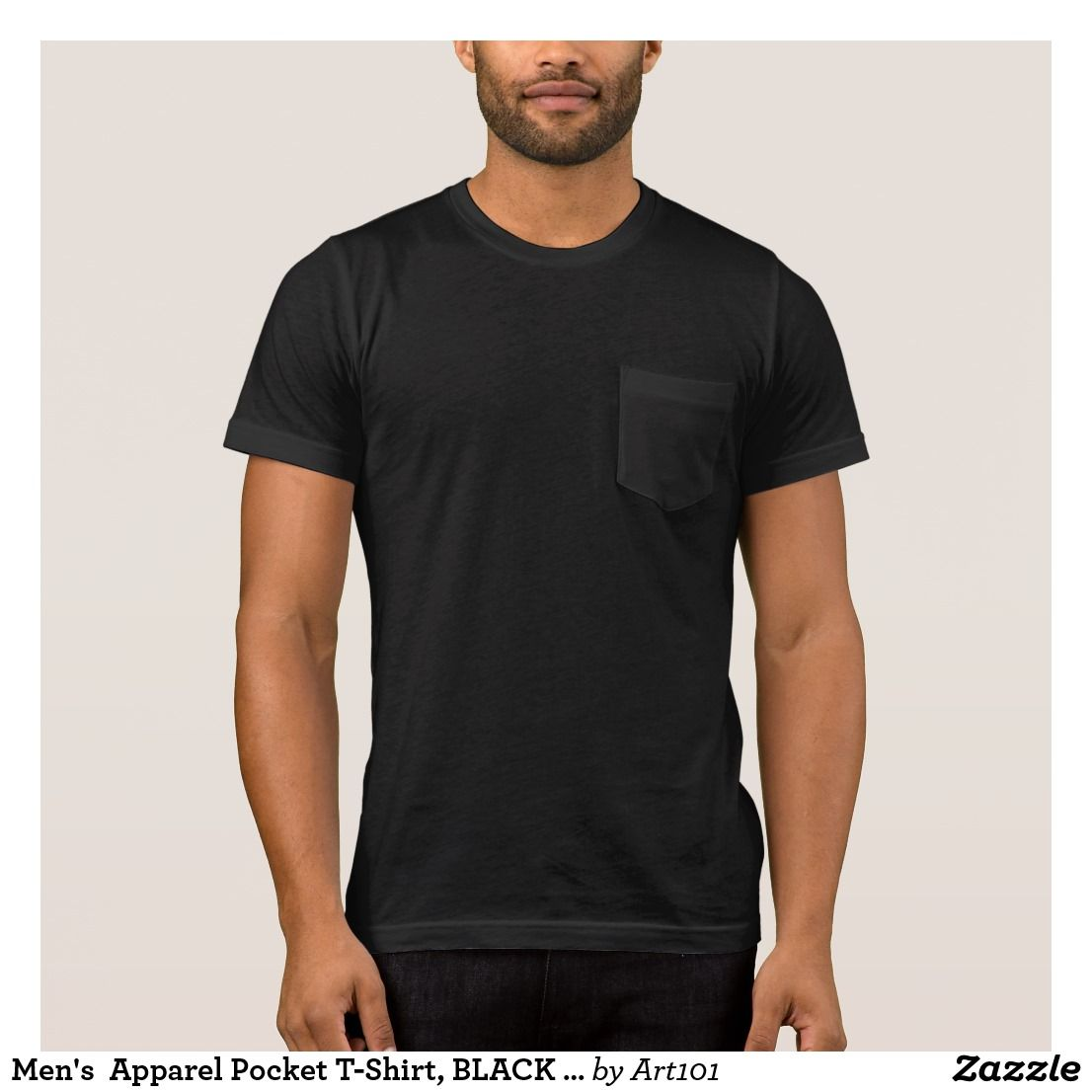 Mens Apparel Pocket T Shirt Black Template T Shirt 101 Zazzle