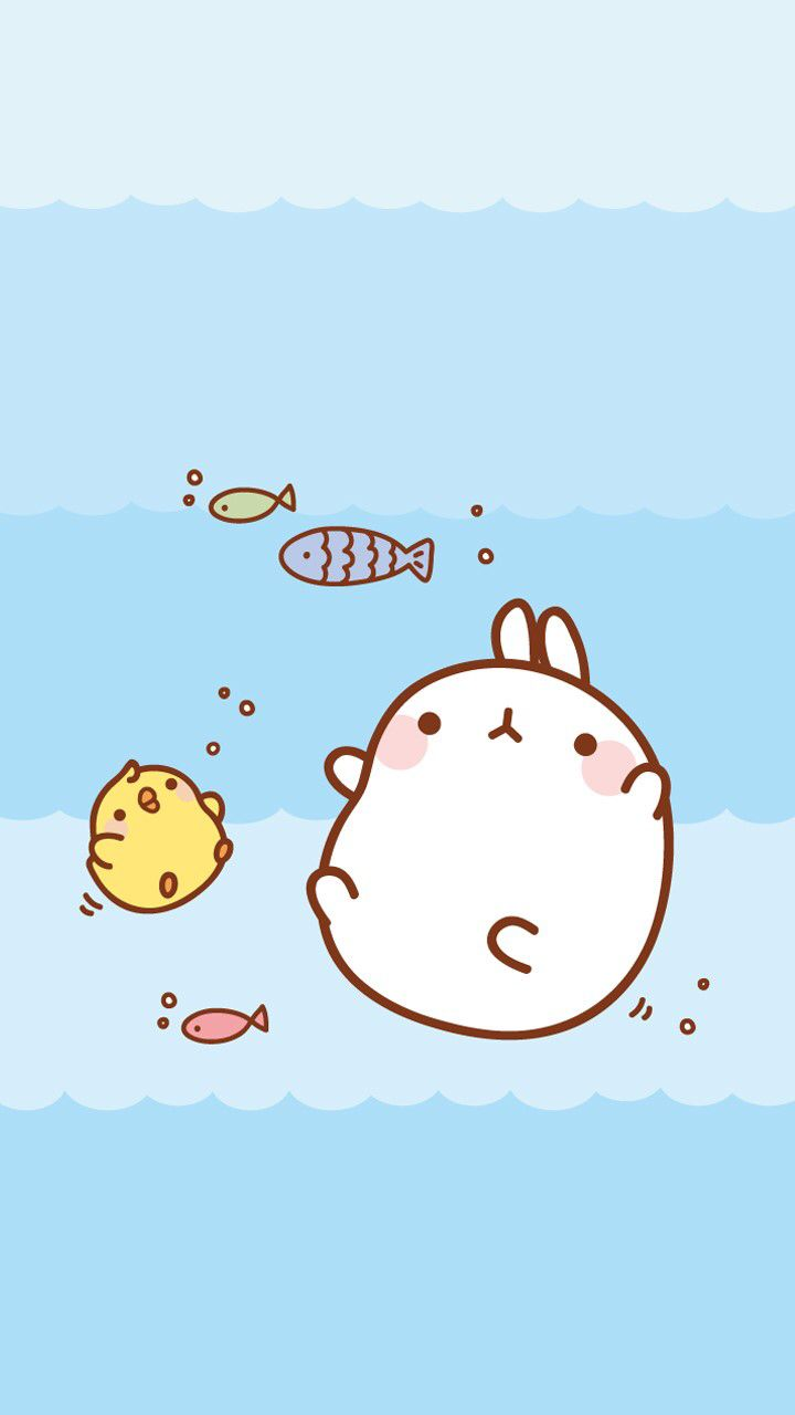 Molang Find More Super Cute Kawaii IPhone Android Wallpapers And