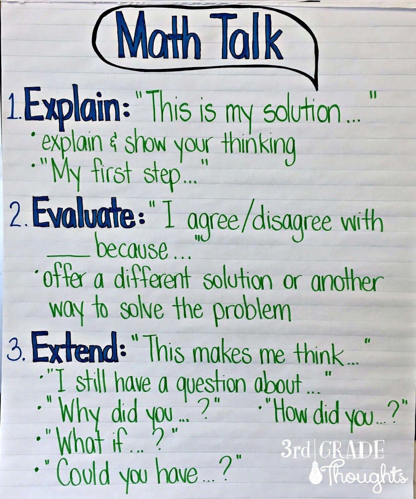 Math Talk Anchor Chart