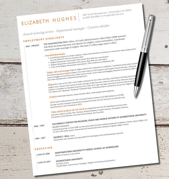 INSTANT DOWNLOAD - Resume Design Template - Microsoft Word - instant resume builder