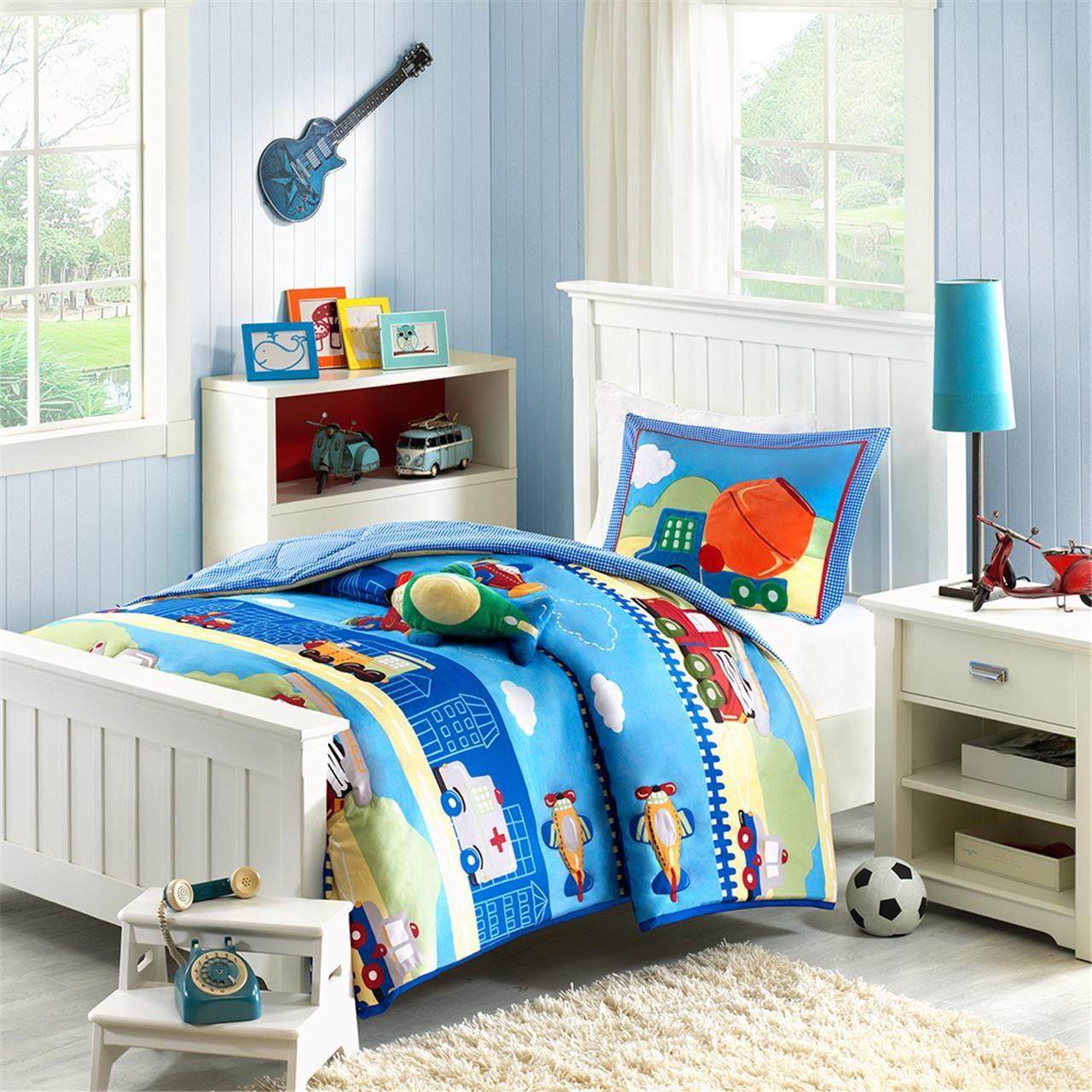 Sweet jojo designs construction zone lamp shade free shipping on - Mi Zone Kids Totally Transit Comforter Set Designer Living