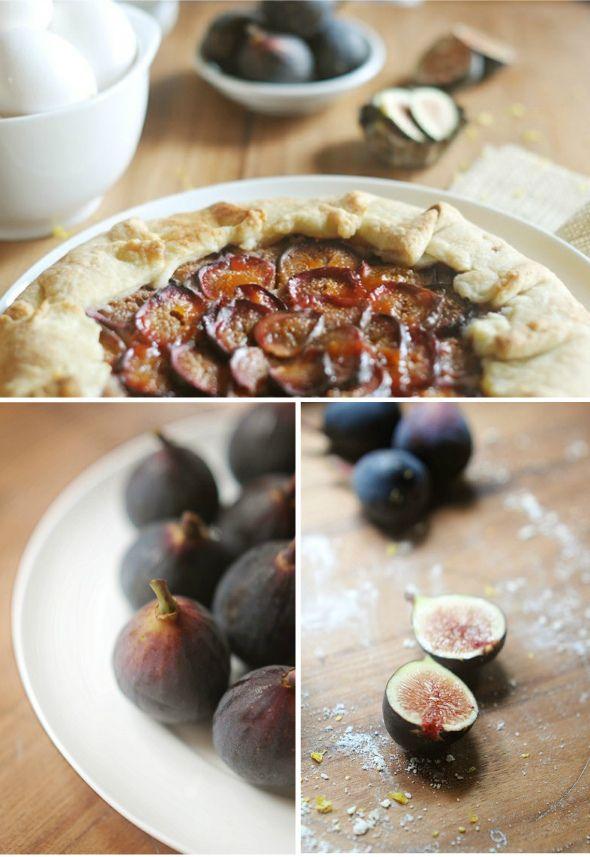 fig & almond tart