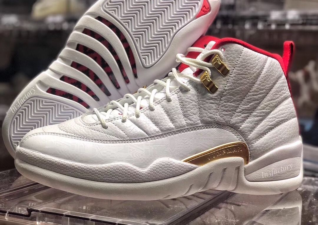 Air Jordan 12 Fiba White University Red 130690 107 Release Date