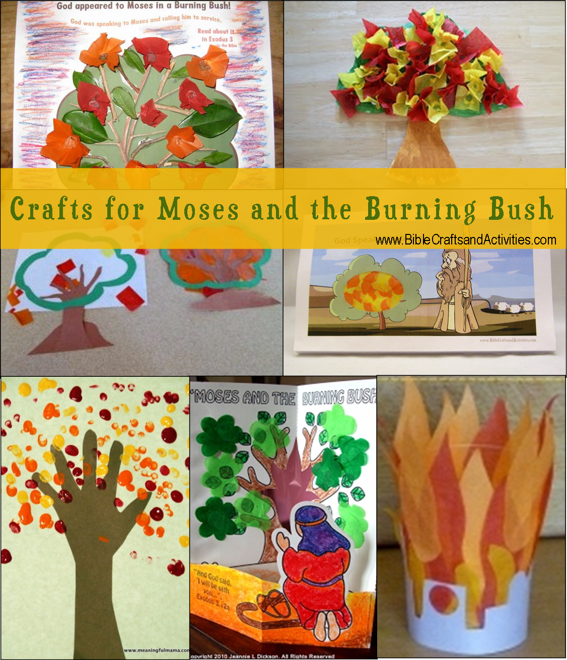Crafts for Moses and the Burning Bush - www ...