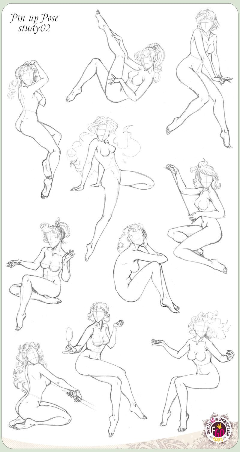 how to draw pin up poses