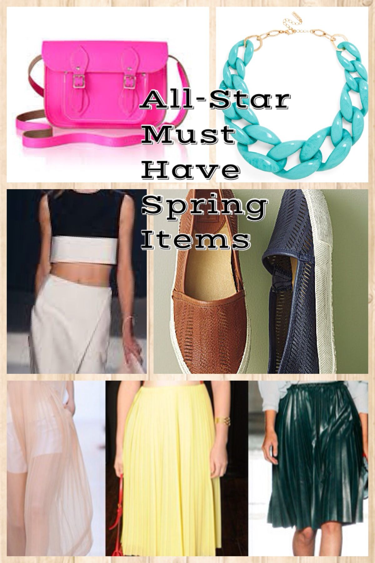 FASHION ALERT: 7 ALL-STAR MUST HAVE ITEMS FOR SPRING on http