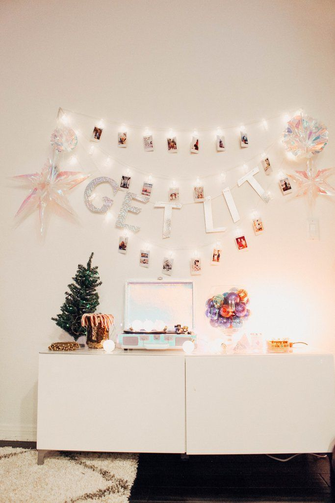 Polaroid Clip String Lights Urban outfitters apartment, Wall