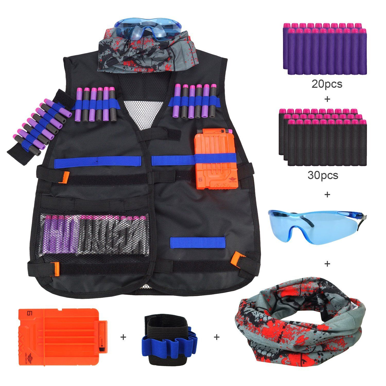 Tactical Vest Jacket Kit for Nerf Guns N-Strike Elite Battle: Amazon.co