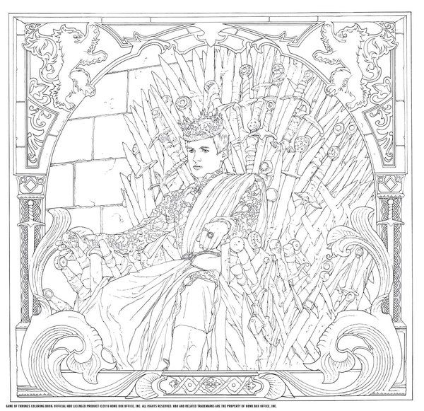 The Most Hated Character Returns In \'Game Of Thrones\' Coloring Book ...