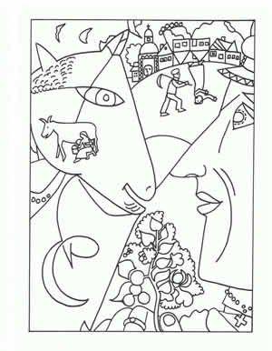 Famous Painting Coloring Pages Art Handouts Homeschool Art Art Lessons
