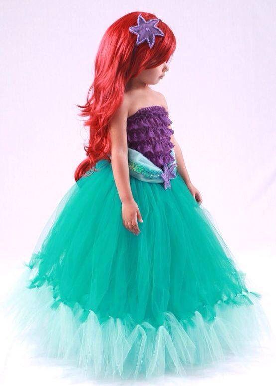 Vestido La Sirenita Para Niña Disfraz De Sirena Disfraces Princesas Disney Disfraces De Princesas