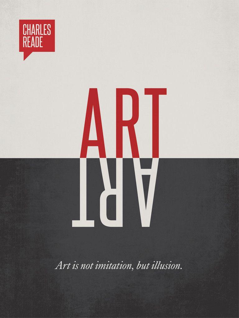 charles reade minimalist poster quote デザイン pinterest