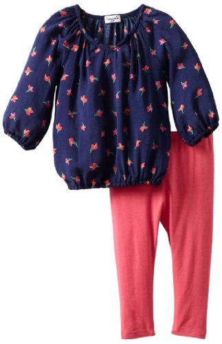 Splendid Littles Baby-Girls Newborn Parisian Tulip Tunic Set, Navy, 6-12 Months, Your little girl will love the parisiam tulip tunic set, #Apparel, #Pant Sets