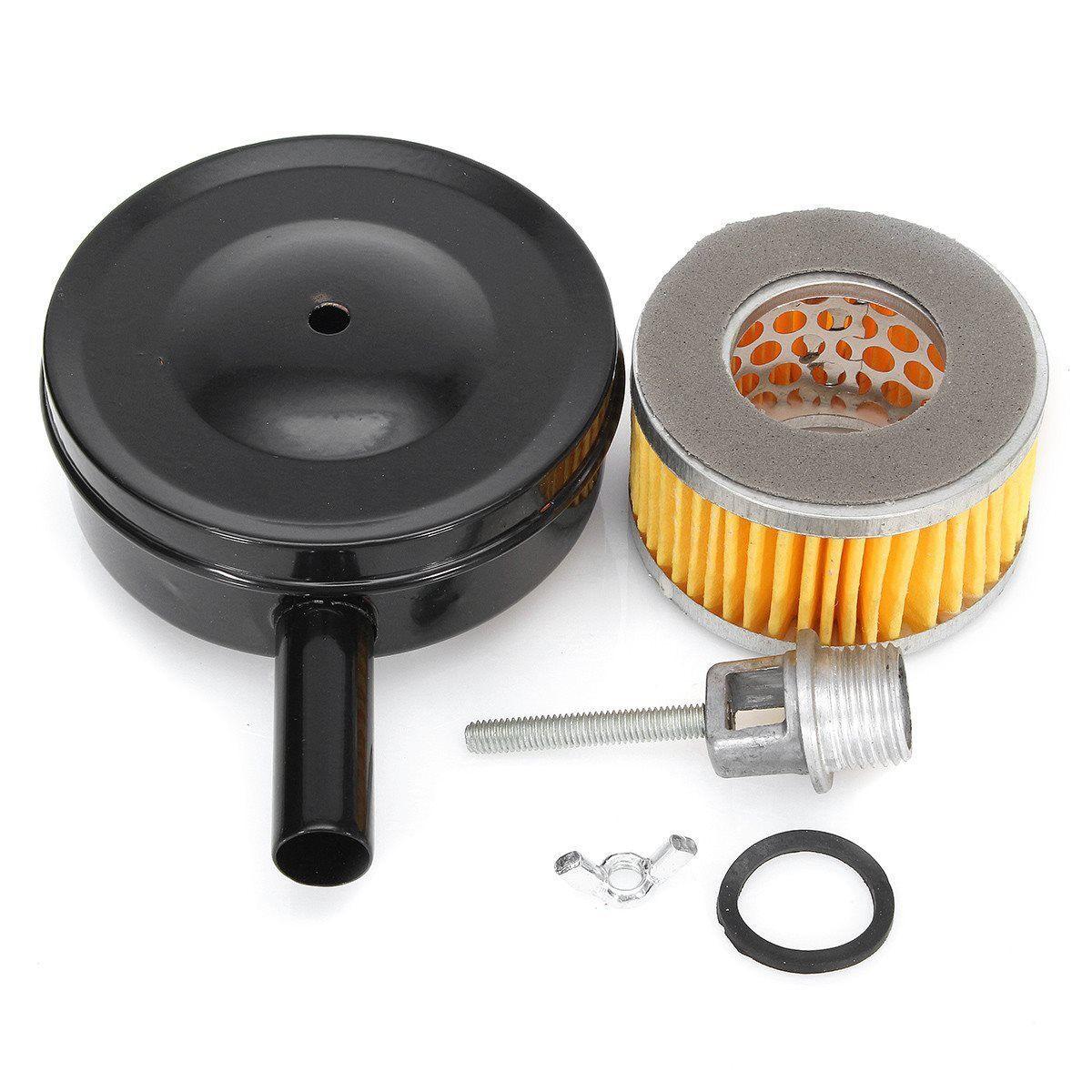 4 Inch Dia Compressor Air Intake Filter MPT1/2'' w/ Paper