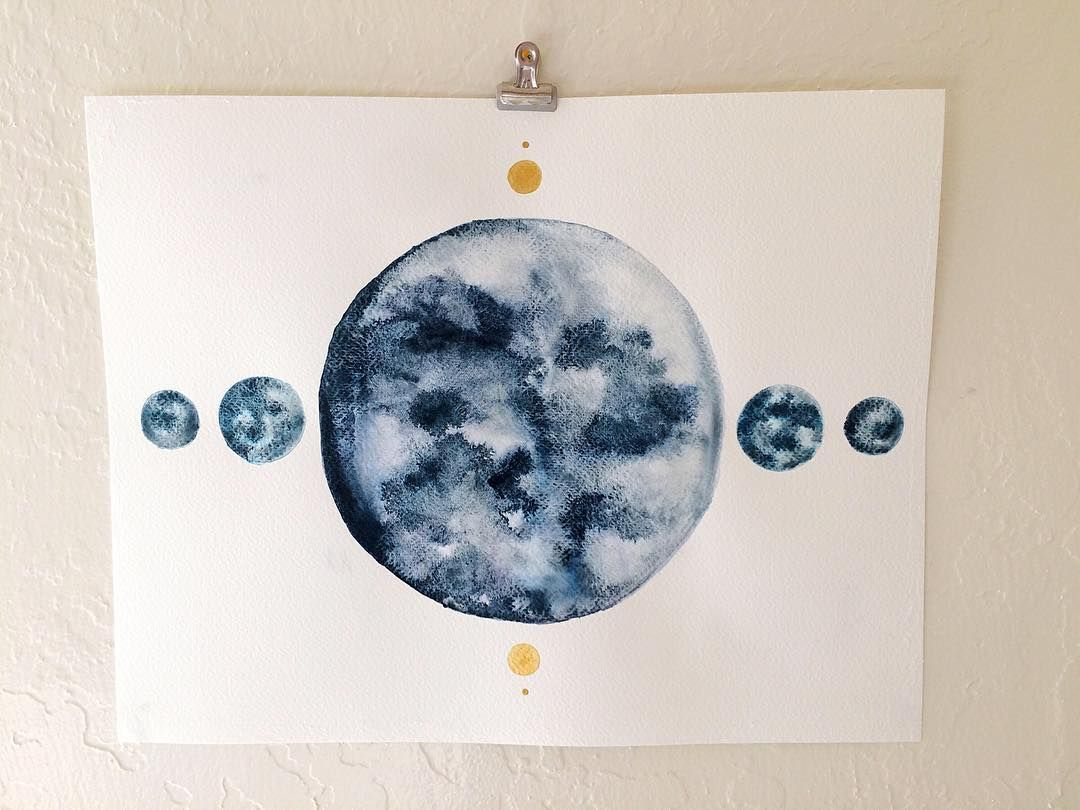 This is one of my favorites large blue moon in my etsy shop a blue