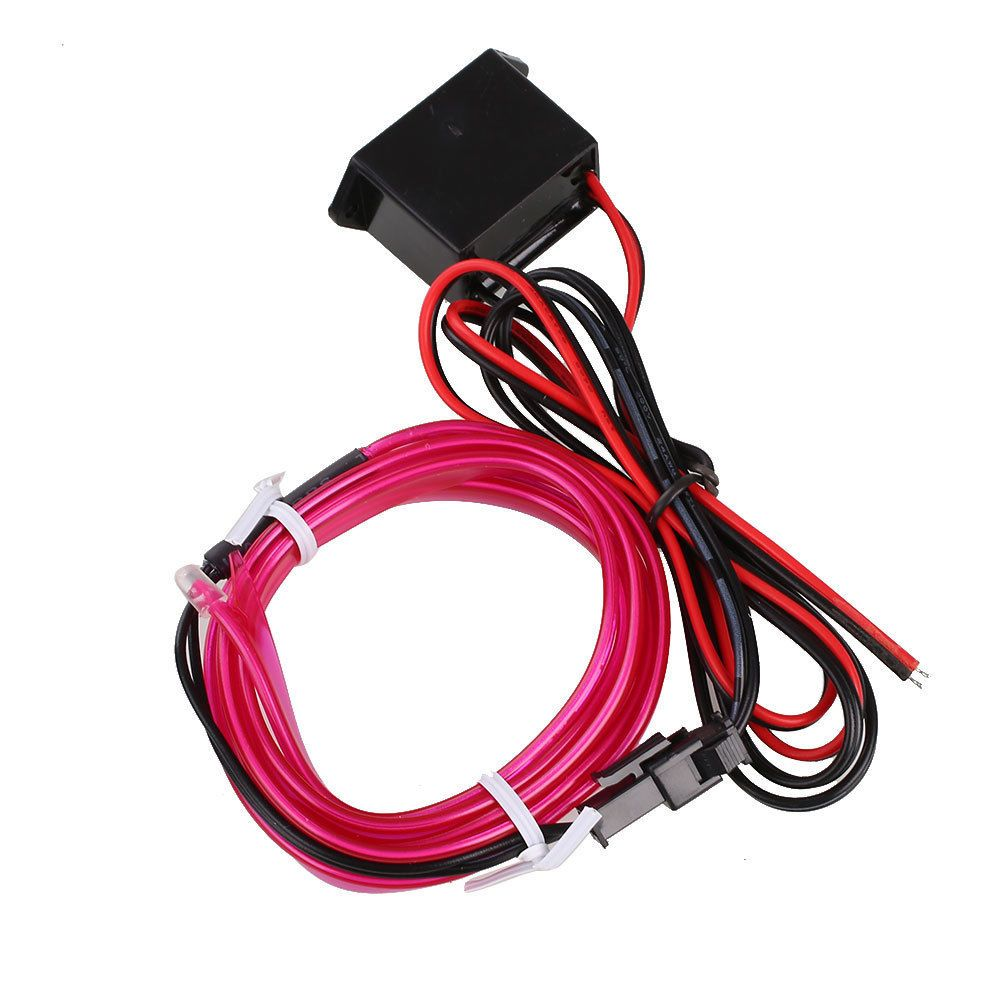 2.59 GBP - 2M 12V Car Neon Xmas Diy Light Inverter Flexible El Wire ...