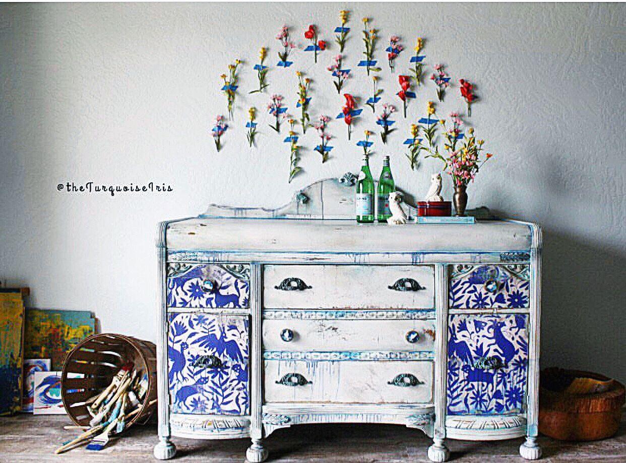www.theturquoiseiris.com #boho #furniturepainter #furnitureartist #vintagefurniture #paintedfurniture #loveart #oklahomaartist #okcartist #oneofakind #theturquoiseiris #handpainted #claybasedpaint #etsyshop #etsyseller #createallday #creativeentreprenuer #dotheDionne #colormovement